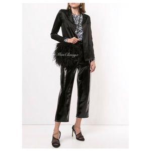 ✨Authentic Vintage CHANEL 2002 CC Logo Black Silk Suit Jacket Blazer